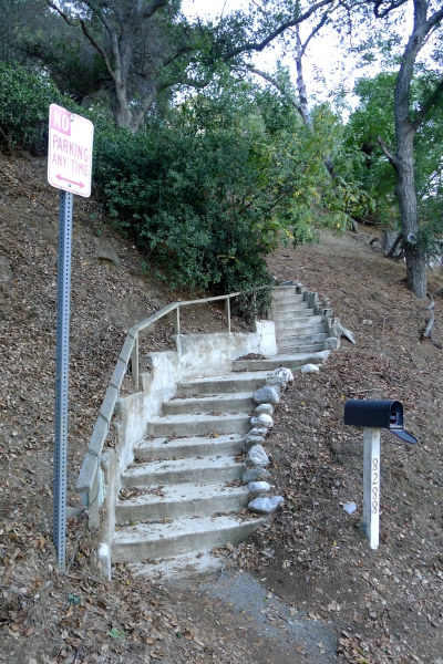 stairs in Laurel Canyon