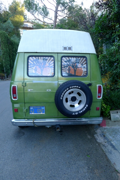 Green Van in Laurel Canyon