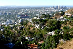 Los Angeles skyline from Laurel Canyon