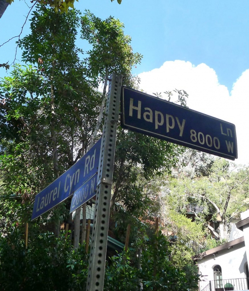 Happy street in Laurel Canyon